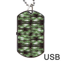 Stripes Camo Pattern Print Dog Tag USB Flash (One Side)