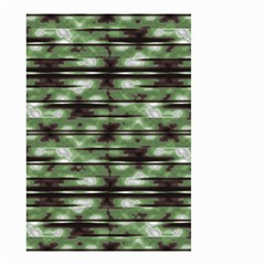 Stripes Camo Pattern Print Small Garden Flag (Two Sides)