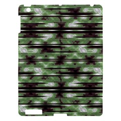 Stripes Camo Pattern Print Apple iPad 3/4 Hardshell Case