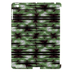 Stripes Camo Pattern Print Apple iPad 3/4 Hardshell Case (Compatible with Smart Cover)
