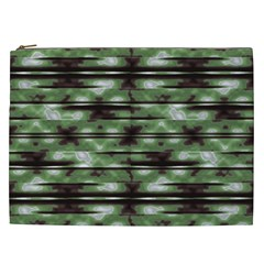 Stripes Camo Pattern Print Cosmetic Bag (XXL)