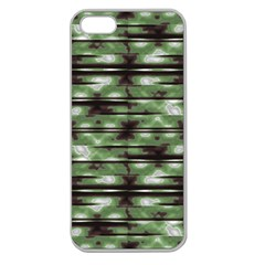 Stripes Camo Pattern Print Apple Seamless iPhone 5 Case (Clear)