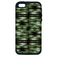 Stripes Camo Pattern Print Apple iPhone 5 Hardshell Case (PC+Silicone)