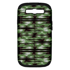Stripes Camo Pattern Print Samsung Galaxy S III Hardshell Case (PC+Silicone)