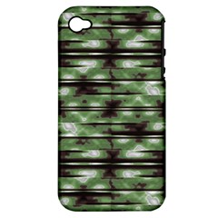 Stripes Camo Pattern Print Apple iPhone 4/4S Hardshell Case (PC+Silicone)