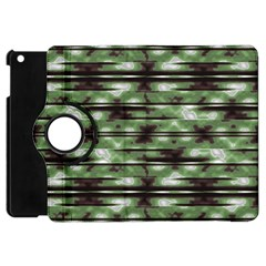 Stripes Camo Pattern Print Apple iPad Mini Flip 360 Case