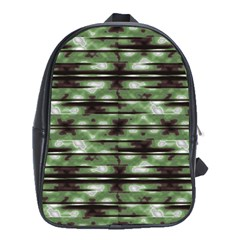 Stripes Camo Pattern Print School Bags (XL)