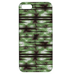 Stripes Camo Pattern Print Apple iPhone 5 Hardshell Case with Stand