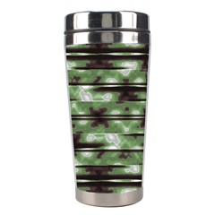 Stripes Camo Pattern Print Stainless Steel Travel Tumblers