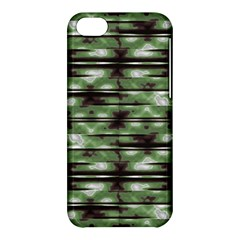 Stripes Camo Pattern Print Apple iPhone 5C Hardshell Case