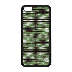Stripes Camo Pattern Print Apple iPhone 5C Seamless Case (Black)