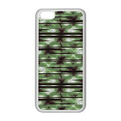 Stripes Camo Pattern Print Apple iPhone 5C Seamless Case (White)
