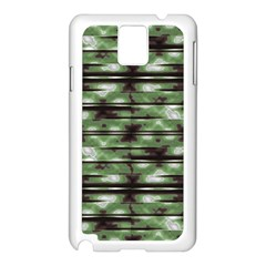Stripes Camo Pattern Print Samsung Galaxy Note 3 N9005 Case (White)