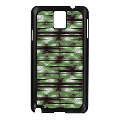 Stripes Camo Pattern Print Samsung Galaxy Note 3 N9005 Case (Black)