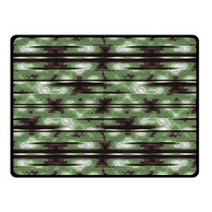 Stripes Camo Pattern Print Double Sided Fleece Blanket (Small)