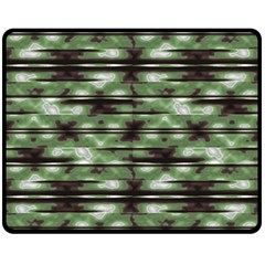 Stripes Camo Pattern Print Double Sided Fleece Blanket (Medium)