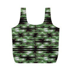 Stripes Camo Pattern Print Full Print Recycle Bags (M)