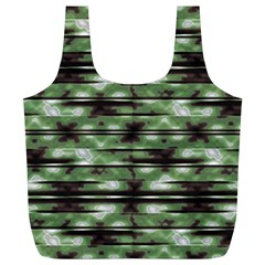 Stripes Camo Pattern Print Full Print Recycle Bags (L)