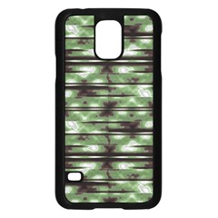 Stripes Camo Pattern Print Samsung Galaxy S5 Case (Black)