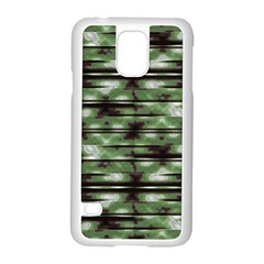 Stripes Camo Pattern Print Samsung Galaxy S5 Case (White)