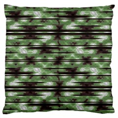 Stripes Camo Pattern Print Large Flano Cushion Case (One Side)