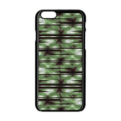 Stripes Camo Pattern Print Apple iPhone 6/6S Black Enamel Case