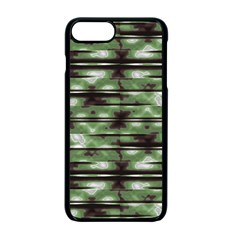 Stripes Camo Pattern Print Apple Iphone 7 Plus Seamless Case (black)