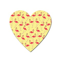 Flamingo pattern Heart Magnet