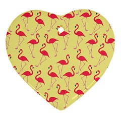 Flamingo pattern Heart Ornament (Two Sides)