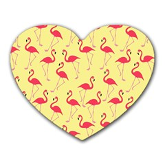 Flamingo pattern Heart Mousepads