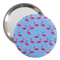 Flamingo pattern 3  Handbag Mirrors