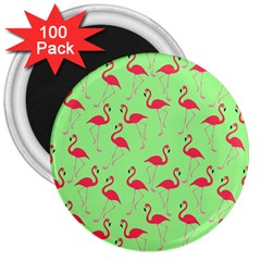 Flamingo pattern 3  Magnets (100 pack)