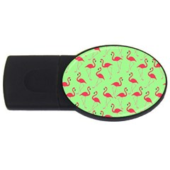 Flamingo pattern USB Flash Drive Oval (1 GB)