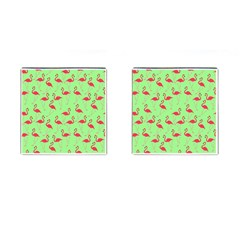 Flamingo pattern Cufflinks (Square)