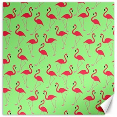 Flamingo pattern Canvas 20  x 20