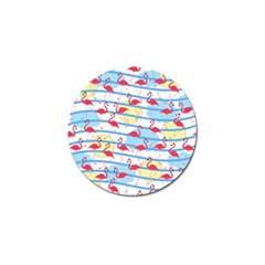 Flamingo pattern Golf Ball Marker (10 pack)
