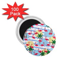 Flamingo pattern 1.75  Magnets (100 pack)