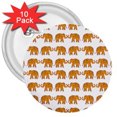 Indian elephant  3  Buttons (10 pack)