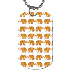 Indian elephant  Dog Tag (Two Sides)
