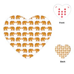 Indian elephant  Playing Cards (Heart)