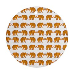 Indian Elephant  Round Ornament (two Sides)