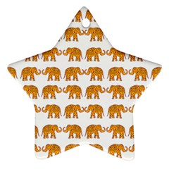 Indian elephant  Star Ornament (Two Sides)