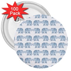 Indian elephant  3  Buttons (100 pack)
