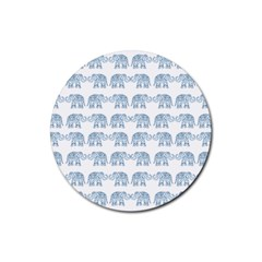Indian elephant  Rubber Round Coaster (4 pack)