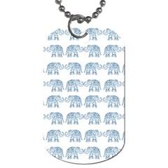 Indian elephant  Dog Tag (One Side)