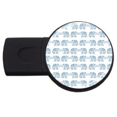 Indian elephant  USB Flash Drive Round (2 GB)