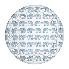 Indian elephant  Round Filigree Ornament (Two Sides)