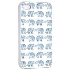Indian Elephant  Apple Iphone 4/4s Seamless Case (white)