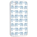 Indian elephant  Apple iPhone 4/4s Seamless Case (White) Front