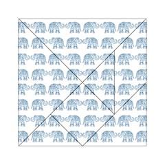 Indian elephant  Acrylic Tangram Puzzle (6  x 6 )